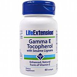 Life Extension GAMMA Ε TOCOPHEROL with sesame lignans 60Softgels