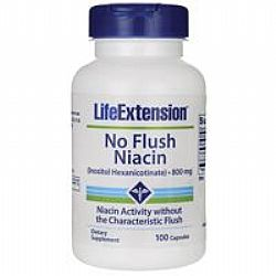 Life Extension NO FLUSH NIACIN (inositol hexanicotinate) 800mg 100caps