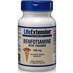 Life Extension BENFOTIAMINE with Thiamine 100mg 120veg.caps
