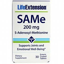 Life Extension SAMe (S-adenosyl-methionine) 200mg 30tabs