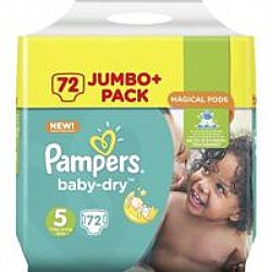 Pampers Baby Dry 5 (11-23kg) 72τμχ