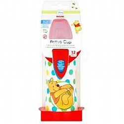 Nuk Active Cup 12+m Winnie The Pooh Λευκό 300ml 1τεμ
