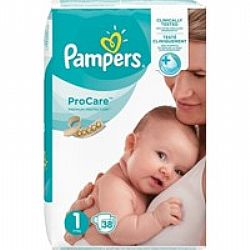 Pampers Pro Care Premium Protection No1 2-5kg 38τμχ