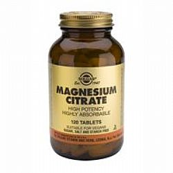Solgar Citrate Magnesium 200mg tabs 120s
