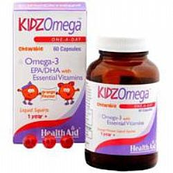 Health Aid Kidz Omega With Vitamins -Chewable capsules 60s