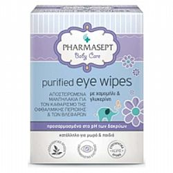 Pharmasept Baby Care Purified Eye Wipes 10τμχ