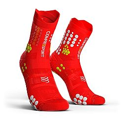 Compressport V3 Trail Smart Pro Racing Socks Κόκκινη/'σπρη
