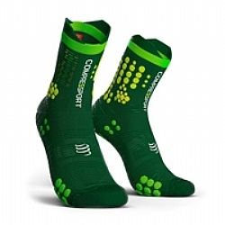 Compressport V3 Trail Smart Pro Racing Socks Πράσινη-Κίτρινη