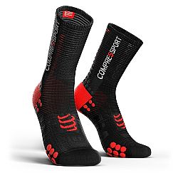 Compressport V3 Smart Bike Socks Μαύρη/Κόκκινη