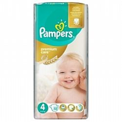 Pampers Premium Care  No4 8-14kg 52τμχ