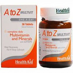 Health Aid A to Z Multivit (Once-A-Day) veg.tabs 30s