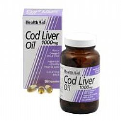 Health Aid Cod Liver Oil 1000mg capsules 30s