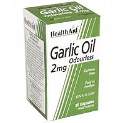 Health Aid Carlic Oil Odourless veg.caps 30s