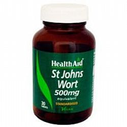 Health Aid ST. Johns Wort 500mg veg tabs 30s