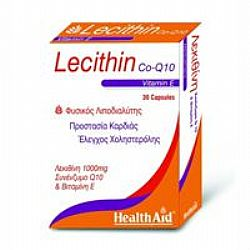 Health Aid Lecithin With CO-Q-10 & Vitamin E caps 30s