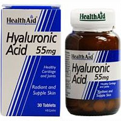 Health Aid Hyaluronic Acid 55mg veg.tabs 30s