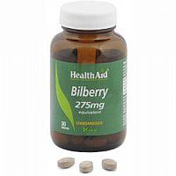 Health Aid Bilberry 275mg tabs 30s
