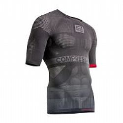Compressport ON/OFF MULTISPORT S/S Shirt (Κοντό Μανίκι)-(Γκρι)