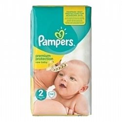 PAMPERS New Baby Premium Protection No2 3-6 Kg (βρεφικές πάνες 56τεμ)