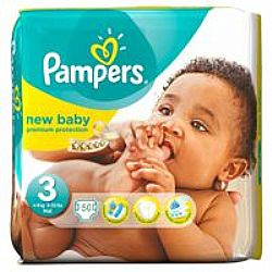 PAMPERS New Baby Premium Protection No3 4-9 Kg (βρεφικές πάνες 50τεμ)